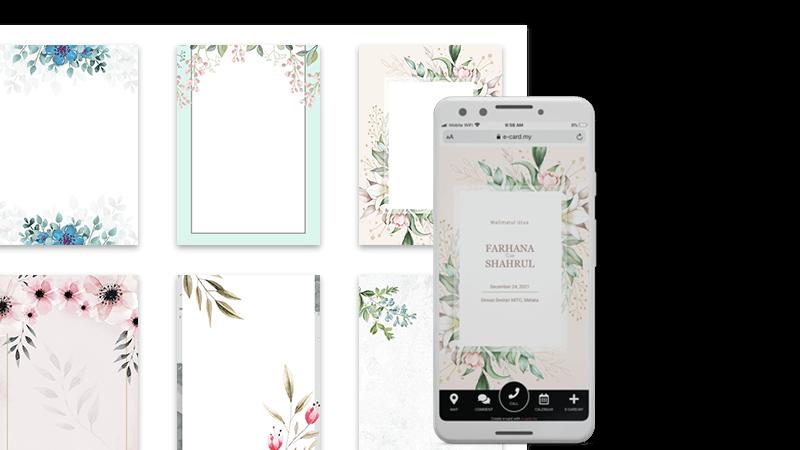 Kad Kahwin Digital Percuma Jemputan Undangan Online Free Simple Design